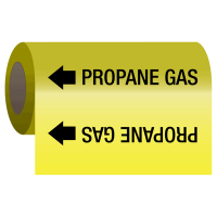 Self-Adhesive Pipe Markers-On-A-Roll - Propane Gas