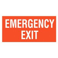 Emergency Exit  Self-Adhesive Vinyl Signs