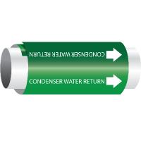 Setmark® Snap-Around Pipe Markers - Condenser Water Return