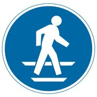 International Symbols Labels - Use Pedestrian Route (Graphic)