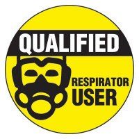 Safety Hard Hat Labels - Qualified Respirator User