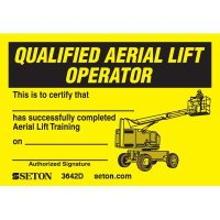 Certification Wallet Cards - Qualified Aerial Lift Operator