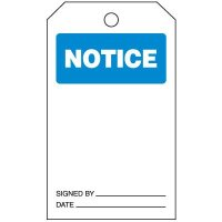 Inspection Tags-On-A-Roll - Notice