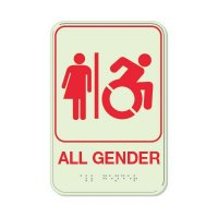 All Gender (Dynamic Accessibility) - Glo Brite Braille Signs