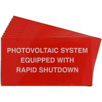 Rapid Shutdown Solar Warning Labels