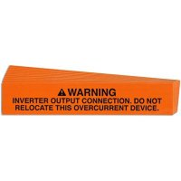 Inverter Output Connection Solar Warning Labels