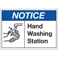 Hand Washing Station Label