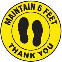 Floor Safety Signs - Please Maintain 6 Feet