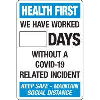 Days Without A COVID-19 Incident Dry Erase Sign