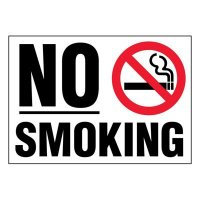 Ultra-Stick Signs - No Smoking