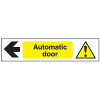 Face Adhesive Signs - Automatic Door