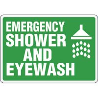 Eco-Friendly Signs - Emergency Shower and Eyewash