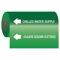 Self-Adhesive Pipe Markers-On-A-Roll - Chilled Water Supply