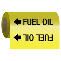 Self-Adhesive Pipe Markers-On-A-Roll - Fuel Oil
