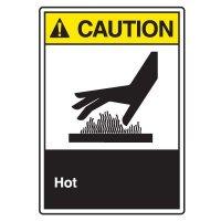 ANSI Z535 Safety Sign - Caution Hot