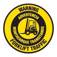 Anti-Slip Floor Markers - Warning Forklift Traffic (Bilingual)