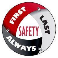 Safety Hard Hat Labels - Safety First Last Always