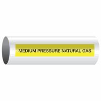 Opti-Code™ Self-Adhesive Pipe Markers - Medium Pressure Natural Gas