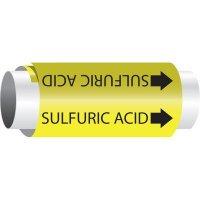 Setmark® Snap-Around Pipe Markers - Sulfuric Acid