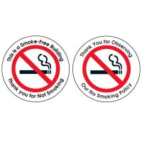 Double-Sided No Smoking Window Sign - THIS IS A SMOKE-FREE BUILDING