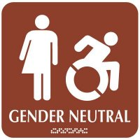 Gender Neutral Restroom Sign - Dynamic Accessibility