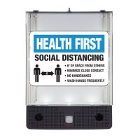 Seton Safety Sign Alerter Kit - Health First Social Distancing Sign