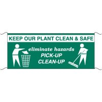 Safety Banners - Keep Our Plant Clean