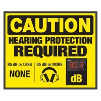 Decibel Meter Signs - Hearing Protection (Earmuffs Symbol)
