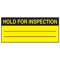 Write-On Action Labels - Hold For Inspection