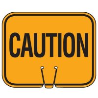 Traffic Cone Signs - Caution