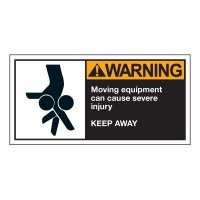 Warning Moving Equipment Safety Labels