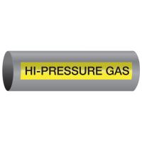 Xtreme-Code™ Self-Adhesive High Temperature Pipe Markers - Hi-Pressure Gas