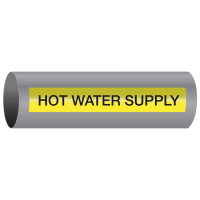 Xtreme-Code™ Self-Adhesive High Temperature Pipe Markers - Hot Water Supply
