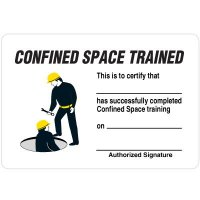 Certification Wallet Cards - Confined Space Trained