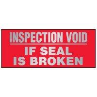 Tamper Evident Void Labels - Inspection Void