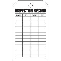 Inspection Tags-On-A-Roll - Inspection Record