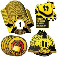 3D Social Distancing Label Kit for Bus Seats - Yellow