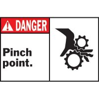 Machine Warning Labels - Danger Pinch Point
