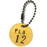 No. 6 Brass Beaded Ball Chain Valve Tag Fastener