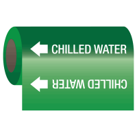 Self-Adhesive Pipe Markers-On-A-Roll - Chilled Water