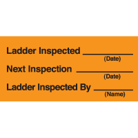 Ladder Inspection Labels