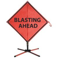 Blasting Ahead Roll-Up Signs