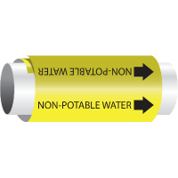 Setmark® Snap-Around Pipe Markers - Non-Potable Water
