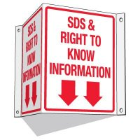 GHS SDS Information Signs - SDS & Right To Know Information