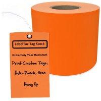 LabelTac® LT406TAG Tear-Resistant Tag Stock - Orange