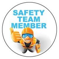 Safety Hard Hat Labels - Safety Team Member (White)