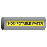 Xtreme-Code™ Self-Adhesive High Temperature Pipe Markers - Non-Potable Water