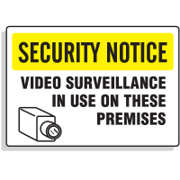 Jumbo Construction Signs - Security Notice - Video Surveillance