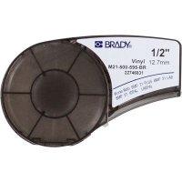 Brady M21-500-595-BR BMP21 Plus Label Cartridge - White on Brown