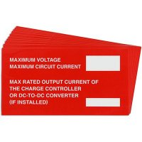 Maximum Voltage Solar Warning Labels